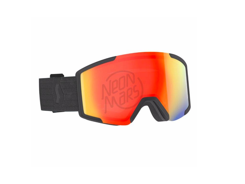 lyziarske okuliare scott shield extra lens black red chrome