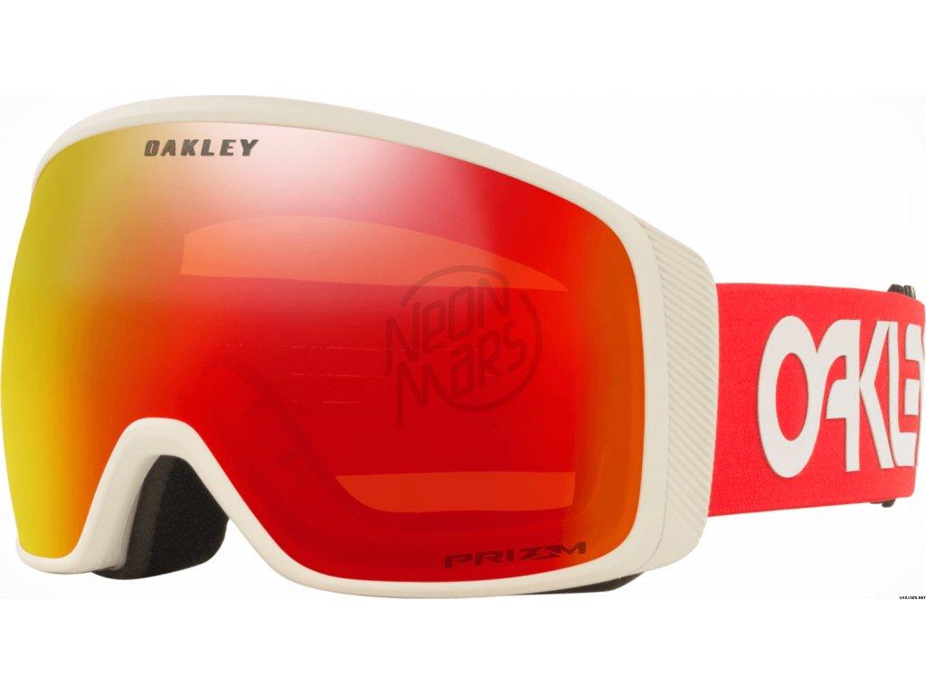 lyziarske okuliare oakley flight tracker xl factory pilot viper red grey prizm torch