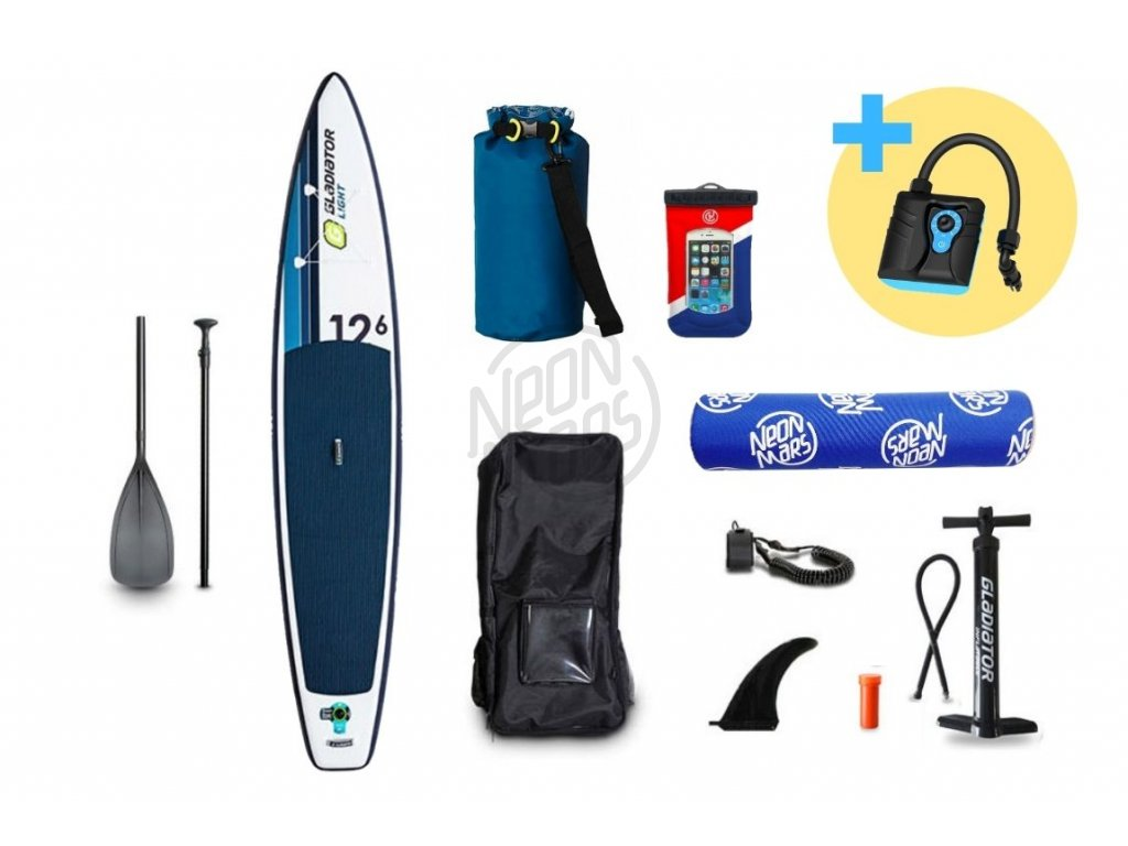paddleboard gladiator light 12,6 set sup