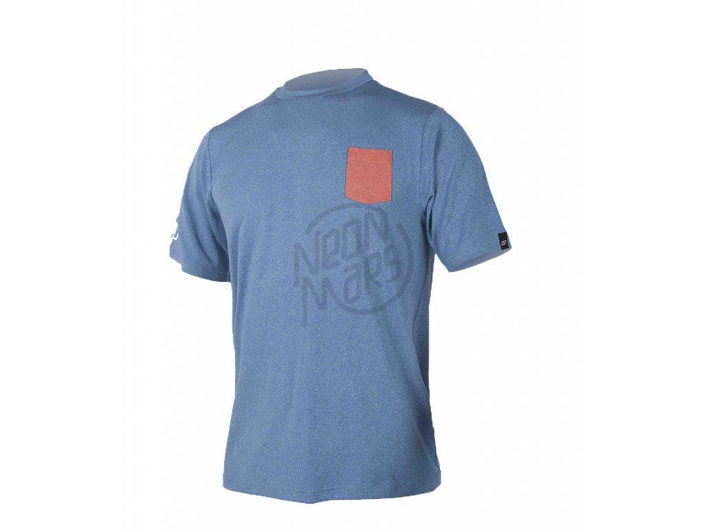Tricko do vody NP Surf Aquasilk Tee S S modre