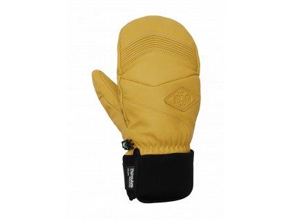 damske snowboardove rukavice picture mc pherson zlte spredu