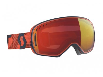 okuliare na lyze a snowboard scott lcg blue orange enhancer red chrome
