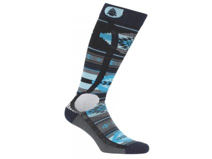 lyziarske a snowboardove ponozky modre picture wooling