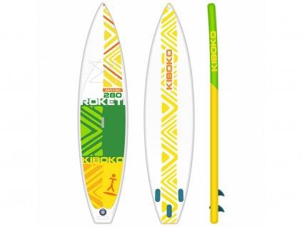SUP Kiboko Roketi 280 FT 2019 paddleboard neonmars