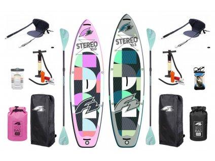 Paddleboard F2 Stereo Pink 10'0 + Stereo 10'5