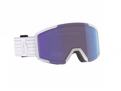 lyziarske okuliare scott shield extra lens white blue chrome