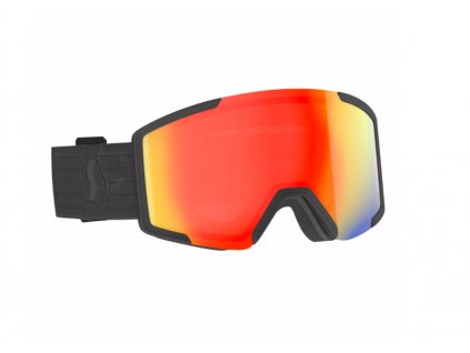 lyziarske okuliare scott shield extra lens black red chrome