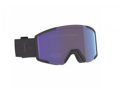 lyziarske okuliare scott shield extra lens black blue chrome