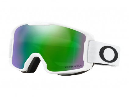 lyziarske okuliare oakley line miner XM matte white prizm jade
