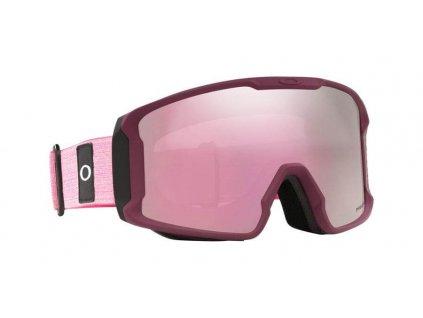 lyziarske okuliare oakley line miner XM heathered grenache prizm pink