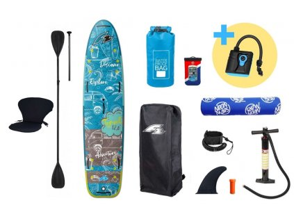 paddleboard f2 travel windsurf 12 5 petrol produkt 1