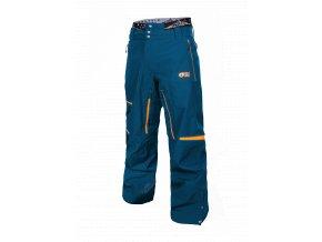 panske modre snowboardove nohavice picture track spredu