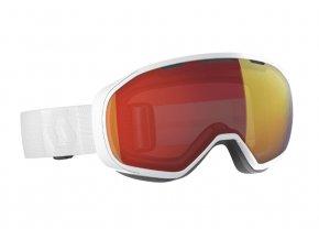 okuliare na lyze a snowboard scott fix white enhancer red chrome