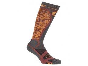 lyziarske a snowboardove ponozky tehlove picture magical