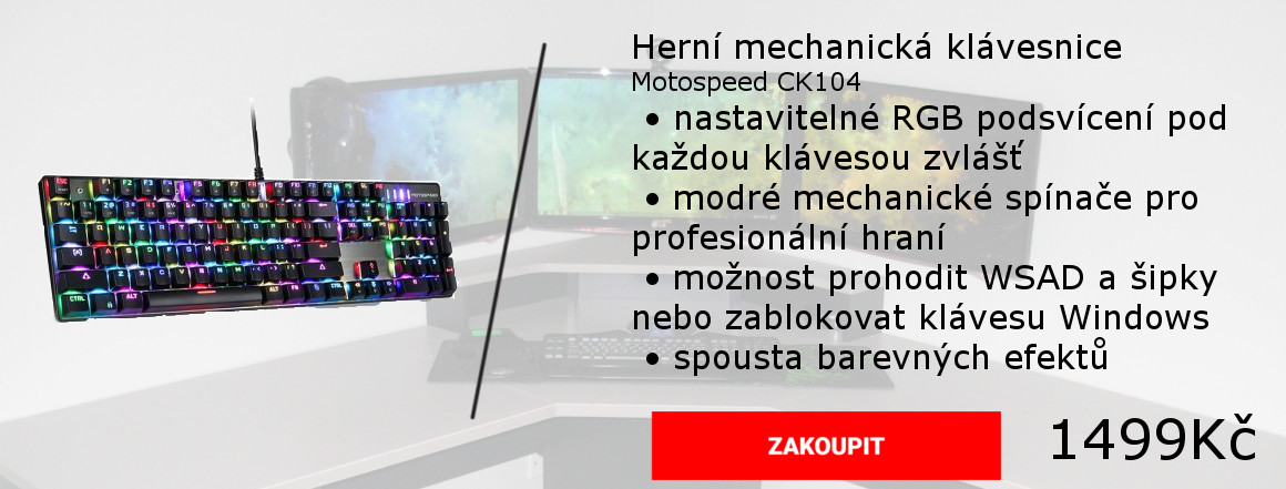 Mechanická klávesnice s RGB podsvícením.