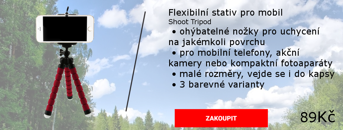 Univerzální flexibilní stativ pro mobilní telefon