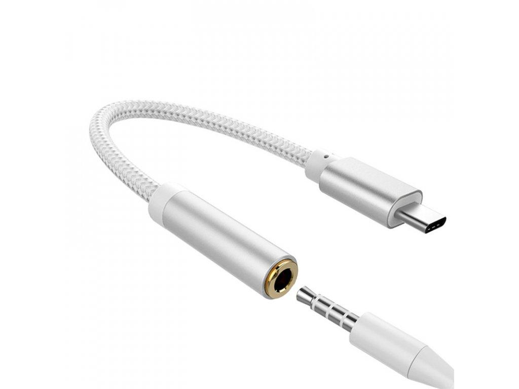 Redukce z USB-C na 3,5 mm jack, nylon-kov