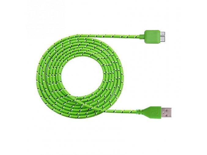Datový kabel micro USB 3.0 - USB 3.0, 1m, nylon