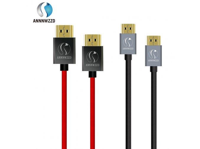 HDMI 2.0 kabel, 1m nebo 3m, pozlacený