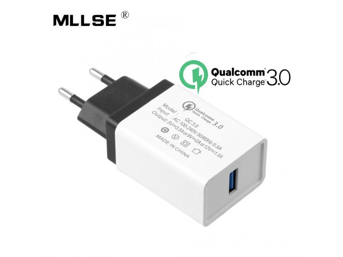 Rychlonabíječka Millse QC3.0-CC Qualcomm Quick Charge 3.0 5V/9V/12V 18W