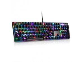 Mechanická herní klávesnice s RGB podsvícením Motospeed CK104, US layout