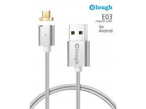 Datový magnetický kabel micro USB - USB, Elough E03, 1m