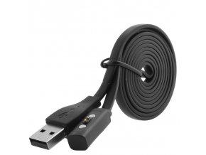 Nabíjecí magnetický kabel pro Pebble Time/Time Steel/Time Round/Pebble 2, 1m černý