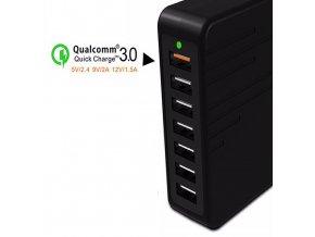 Rychlonabíječka 7×USB 6A KooPower HC007 s Qualcomm Quick Charge 3.0 černá