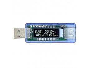 USB měřič proudu, napětí a kapacity Keweisi KWS-V20