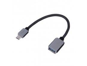 Odolná redukce USB-C - USB 3.0 OTG, 20cm, šedá