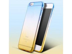 Dvoubarevný průhledný kryt (bumper) pro iPhone žlutá-modrá