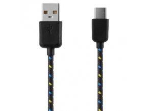 Datový kabel USB-C - USB 2.0, 1m, nylon