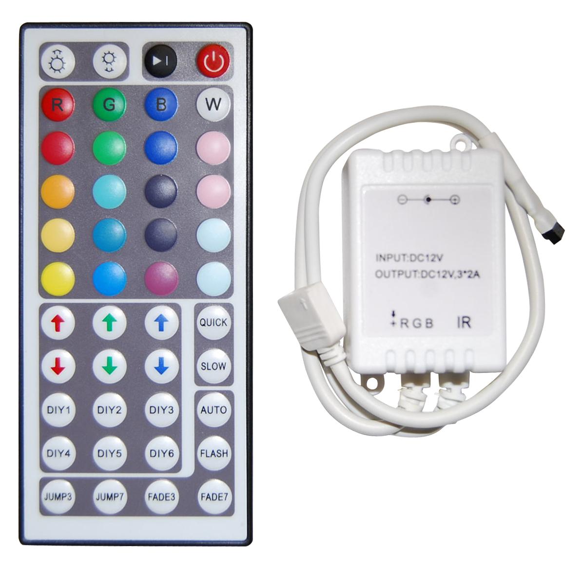 Ovládání RGB LED pásku, 44 tlačítek