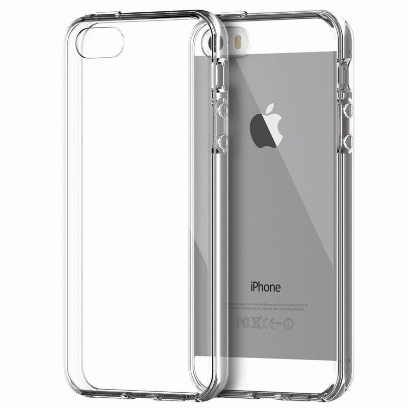 Průhledný kryt (bumper) pro iPhone Model  5   5S   SE 2207044796c