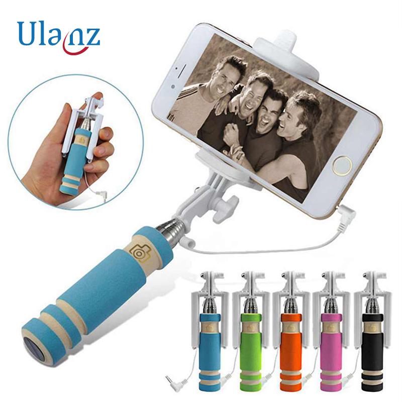 Selfie tyč se spouští fotoaparátu, délka až 48cm Barva: Modrá