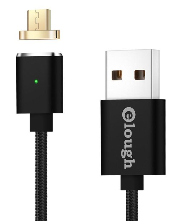 Datový magnetický kabel micro USB - USB, 1m Barva: Zlatá