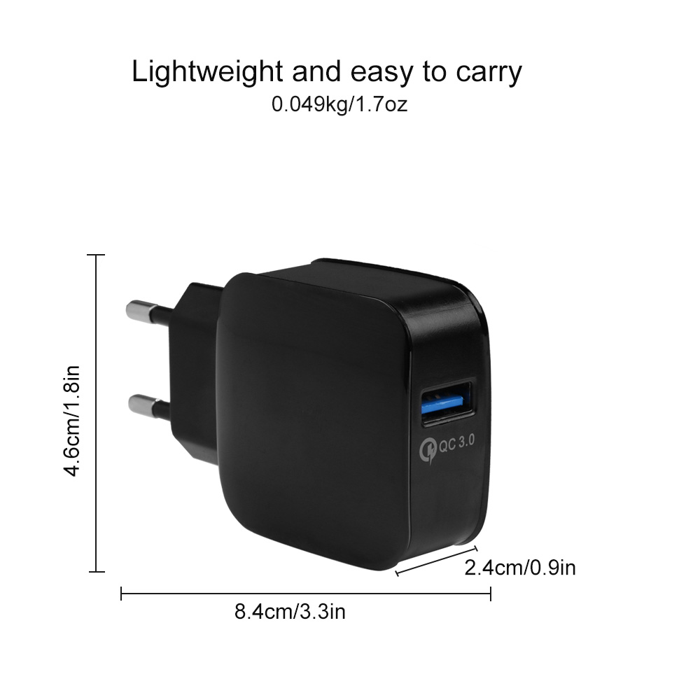 Rychlonabíječka Qualcomm Quick Charge 3.0 5V/9V/12V 18W Barva: Černá