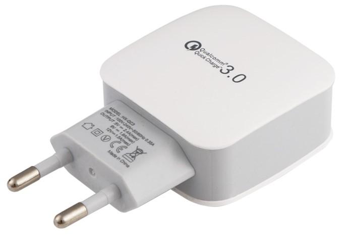 Rychlonabíječka Qualcomm Quick Charge 3.0 5V/9V/12V 18W Barva: Bílá