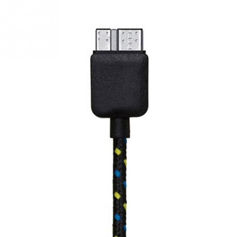 Datový kabel micro USB 3.0 - USB 3.0, 1m, nylon Barva: Černá