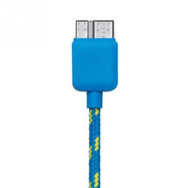 Datový kabel micro USB 3.0 - USB 3.0, 1m, nylon Barva: Modrá