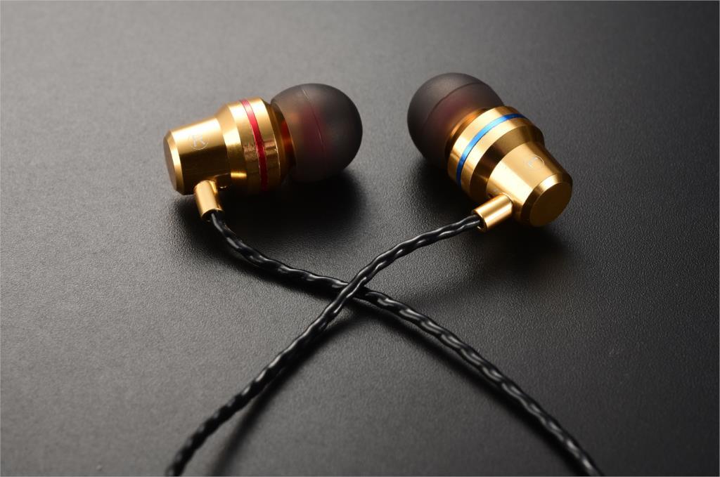 Headset QKZ DM1 s mikrofonem Barva: Zlatá