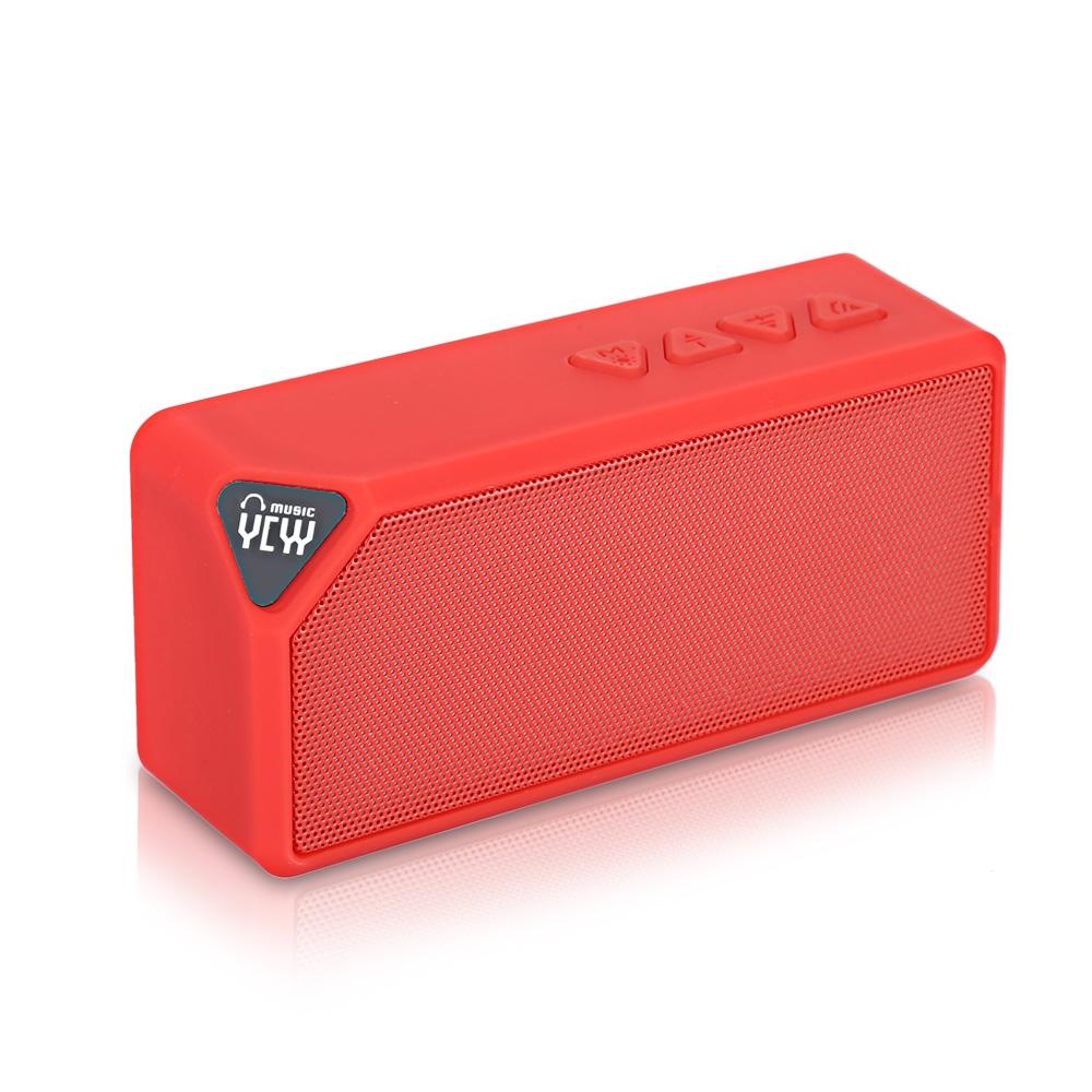 Bluetooth reproduktor YCYY X3S Barva: Červená