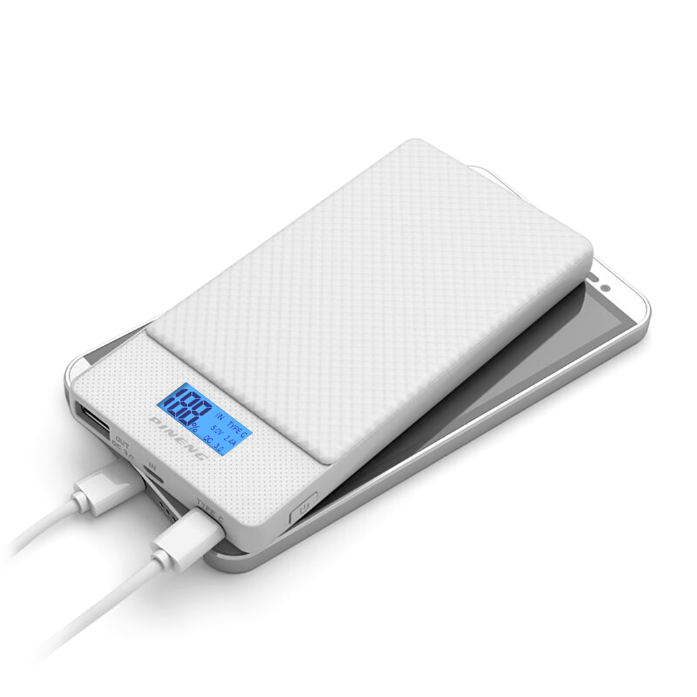 Powerbanka Pineng PN-993 10000mAh s Qualcomm Quick Charge 3.0 a USB-C Barva: Bílá