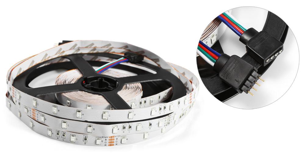 RGB LED pásek, 5m, 300 diod + adaptér do sítě a dálkový ovladač