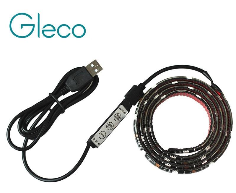 RGB LED pásek 5050, 1m, 30 diod/m, napájení z USB