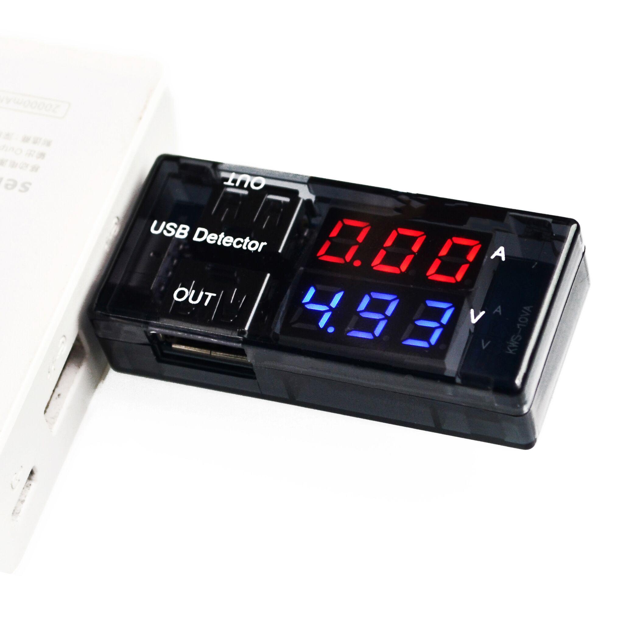USB měřič proudu a napětí Keweisi KWS-10VA, černý