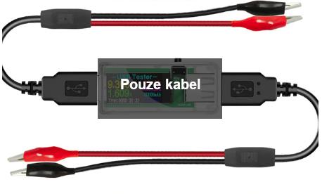 USB měřič proudu, napětí, kapacity a výkonu Atorch Color Barva: USB kabely s vývody
