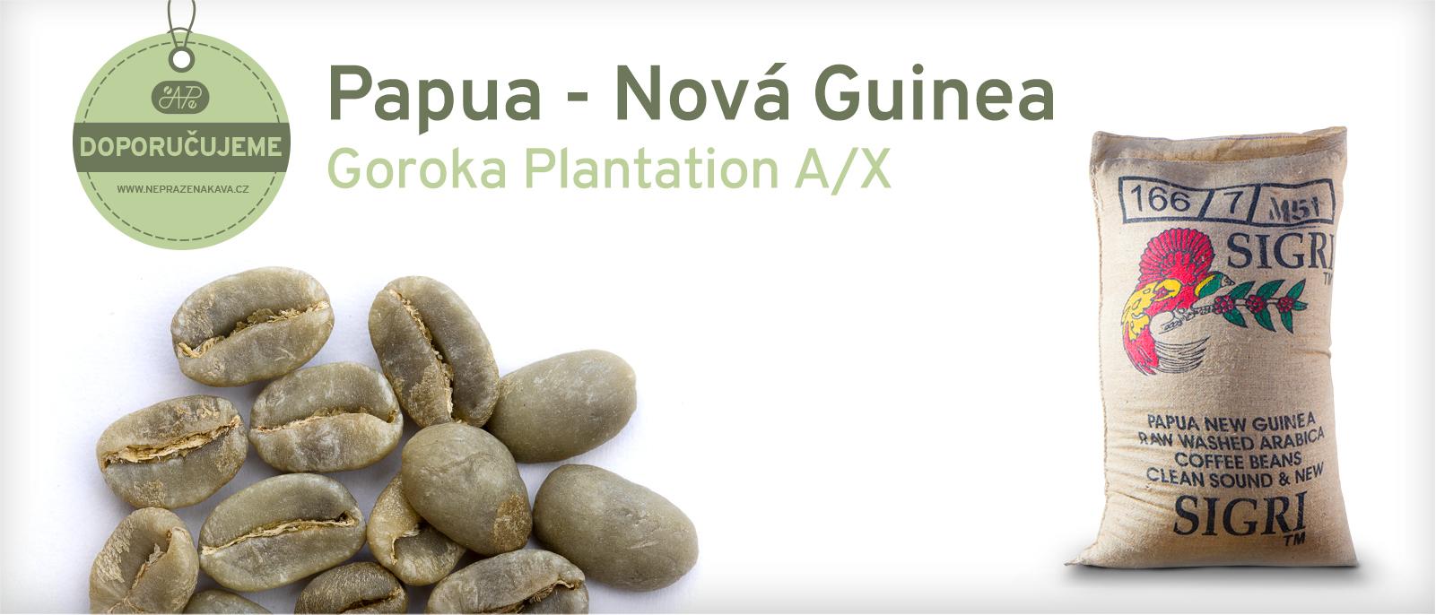 Nepražená káva Papua New Guinea