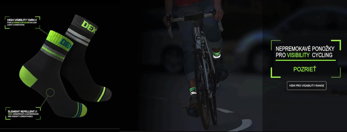 NEPREMOKAVÉ PONOŽKY DEXSHELL PRO VISIBILITY CYCLING
