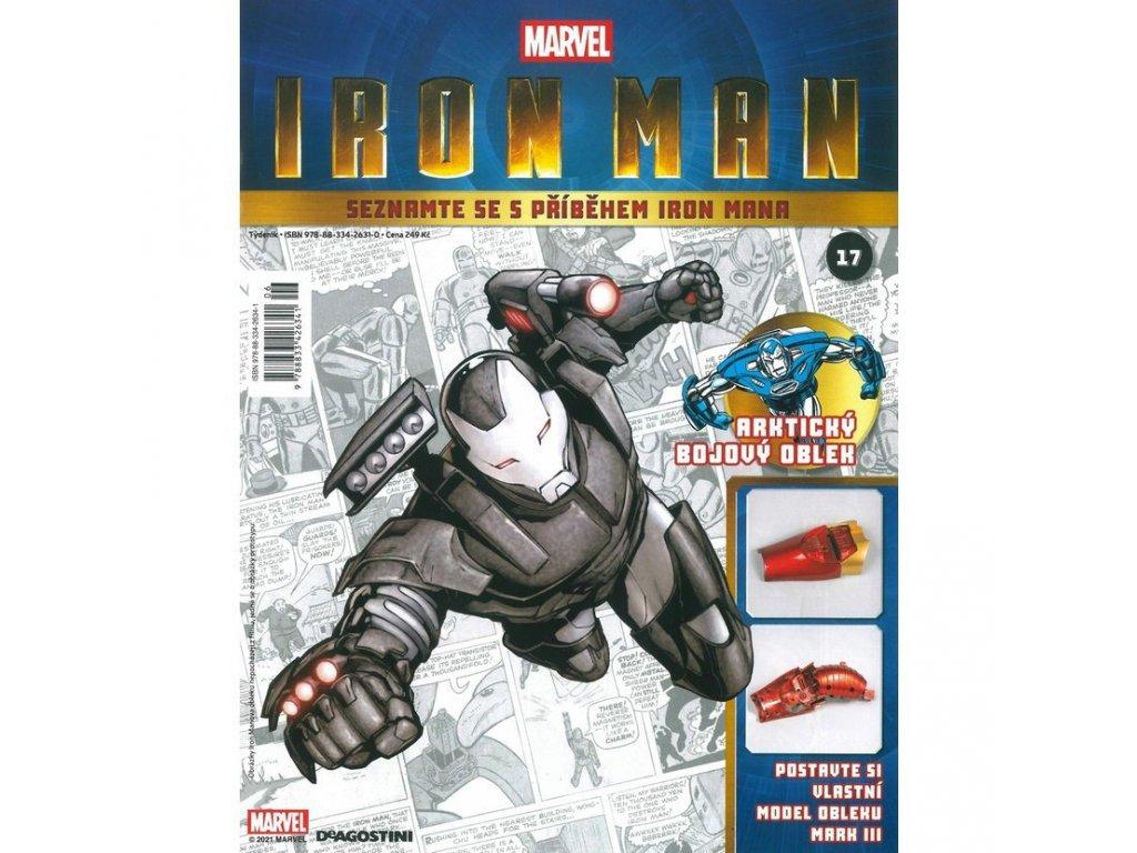 Figurka - stavebnice: IRON MAN #017 (časopis s přílohou)
